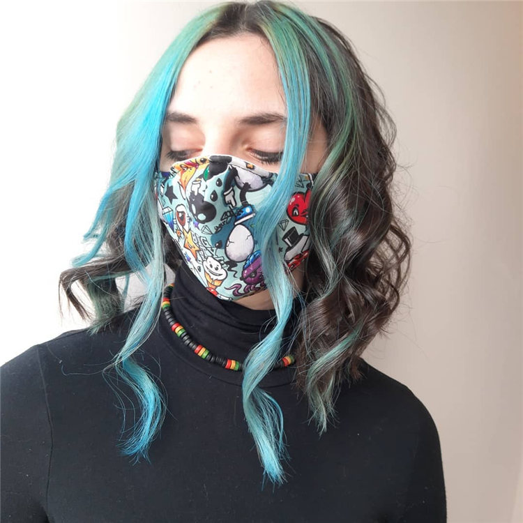 Hottest Blue Hairstyles and Color Ideas 2021 54