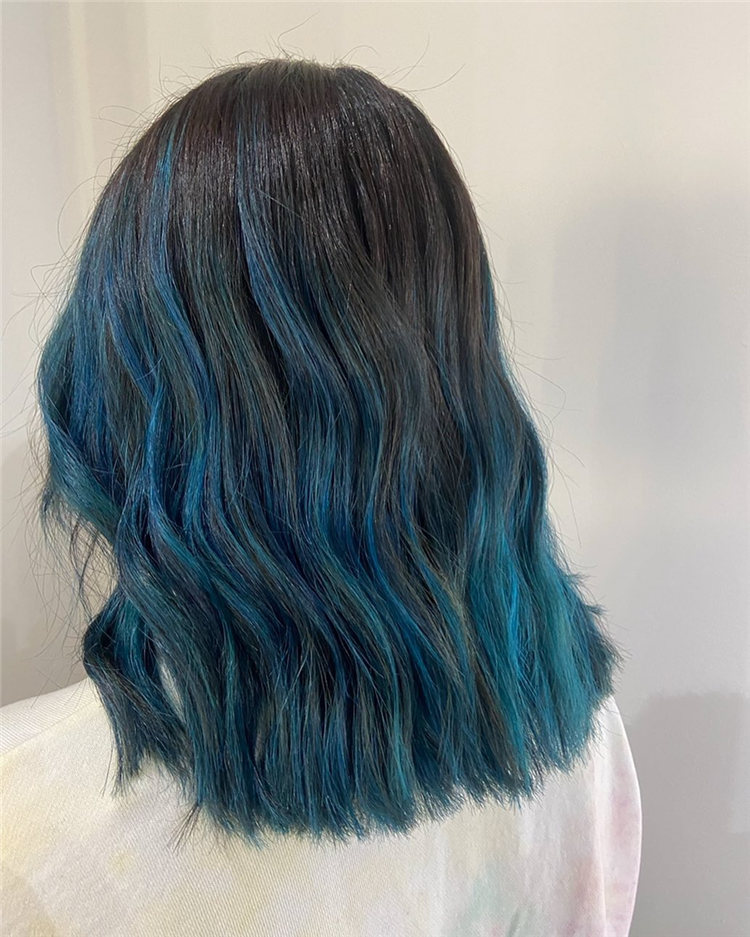 Hottest Blue Hairstyles and Color Ideas 2021 63