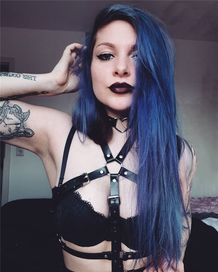 Hottest Blue Hairstyles and Color Ideas 2021 67