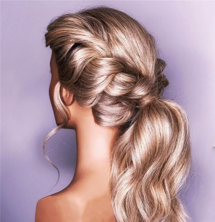 Lace Rope Braid into Ponytail