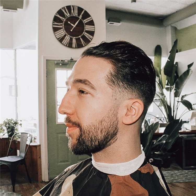 Low fade w slick back