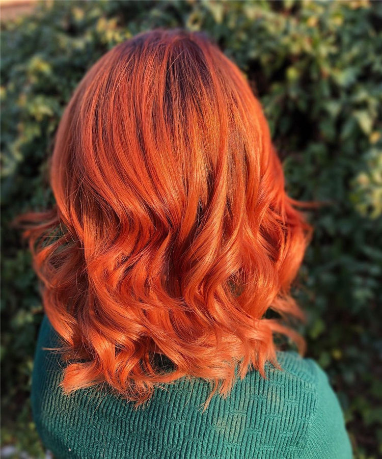 Orange Copper Hair