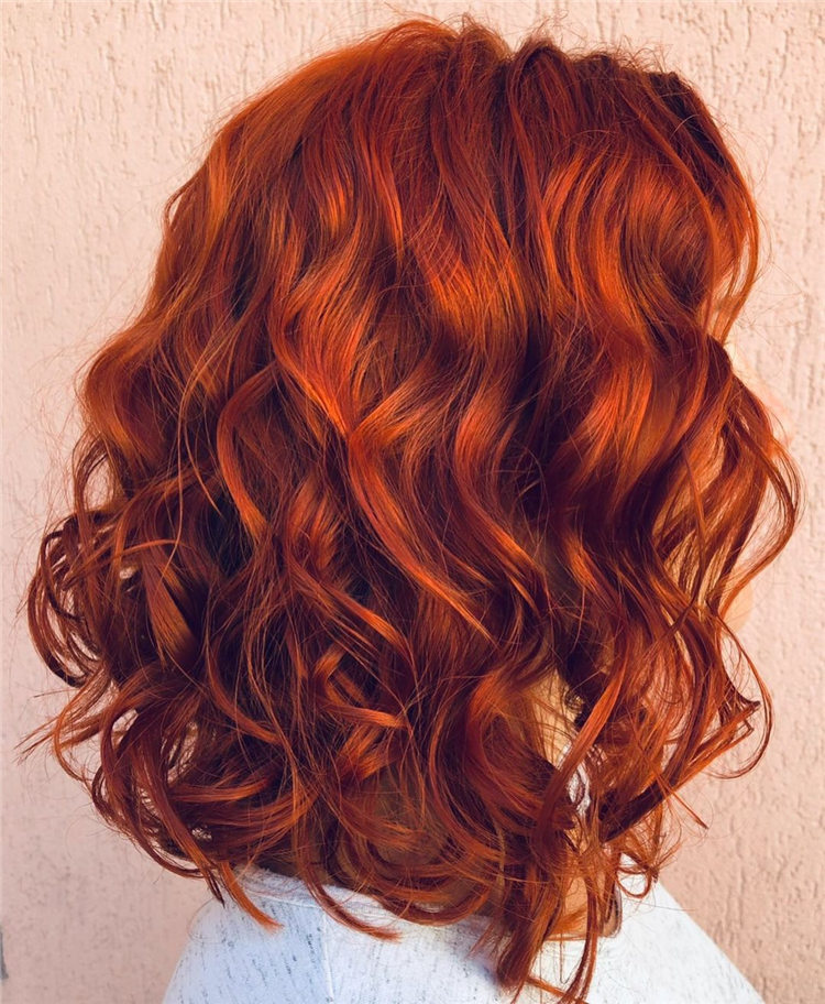 Orange Medium Haircut