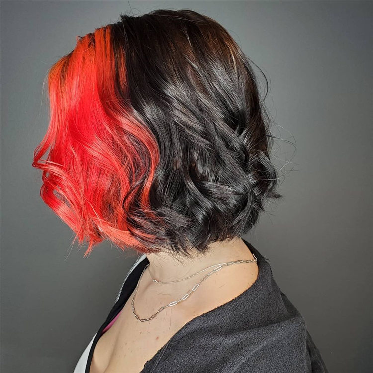 Red and Black Edgy Hair