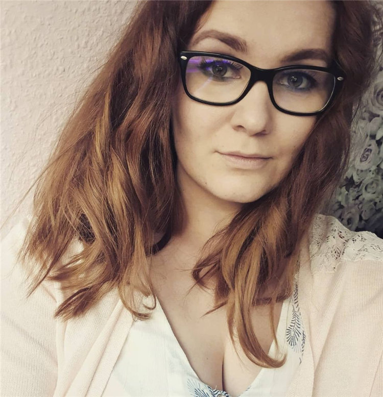 Brown Hair with Glasses