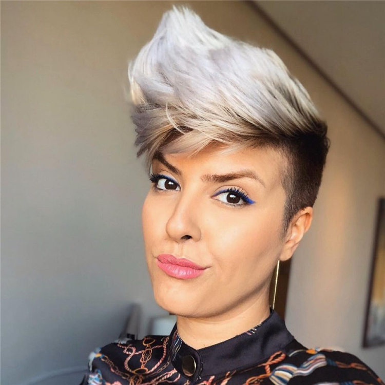 Grey Pixie Cut 1