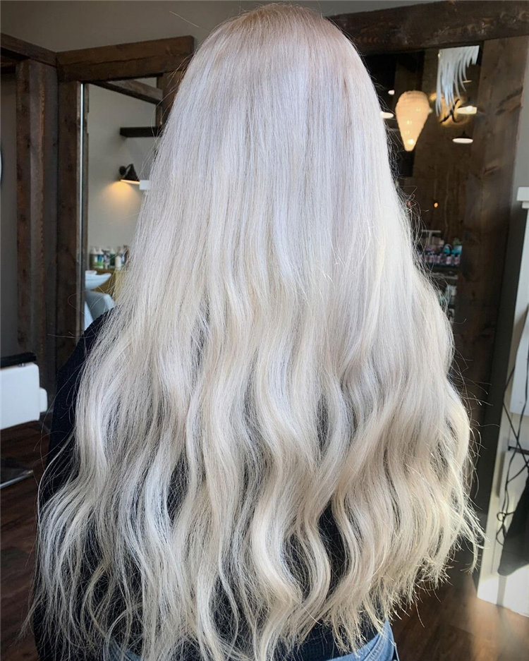Platinum Blonde Hairstyle Ideas to Look Gorgeous 13