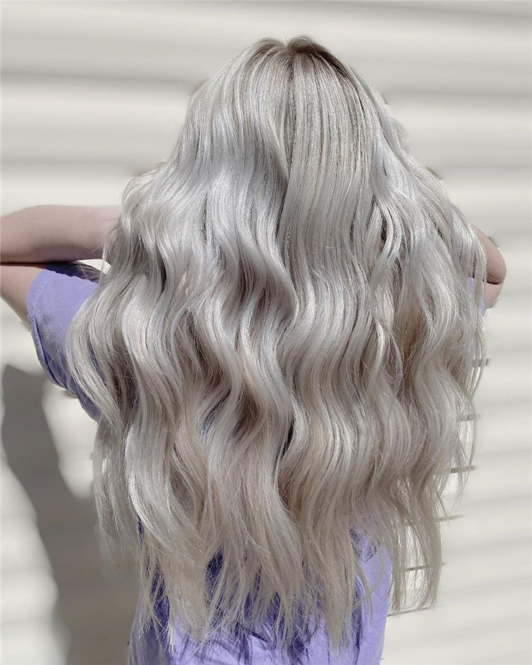 Platinum Blonde Hairstyle Ideas to Look Gorgeous 44