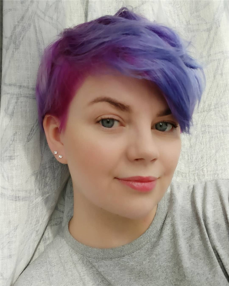 Purple Pixie Cuts Ideas That You Must Try 07