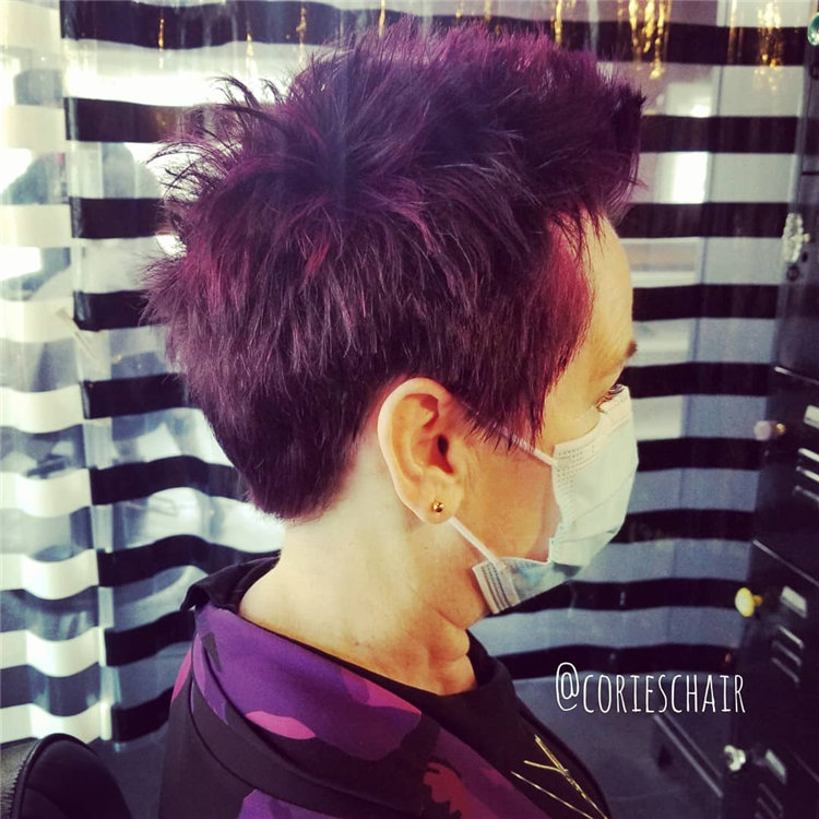 Purple Pixie Cuts Ideas That You Must Try 11
