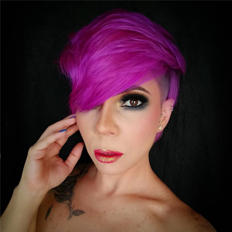 Purple Pixie Cuts Ideas That You Must Try 14