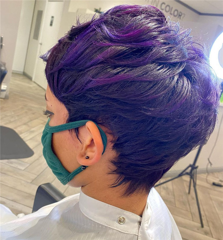 Purple Pixie Cuts Ideas That You Must Try 16