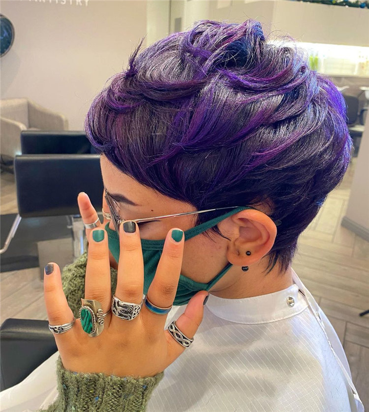 Purple Pixie Cuts Ideas That You Must Try 18