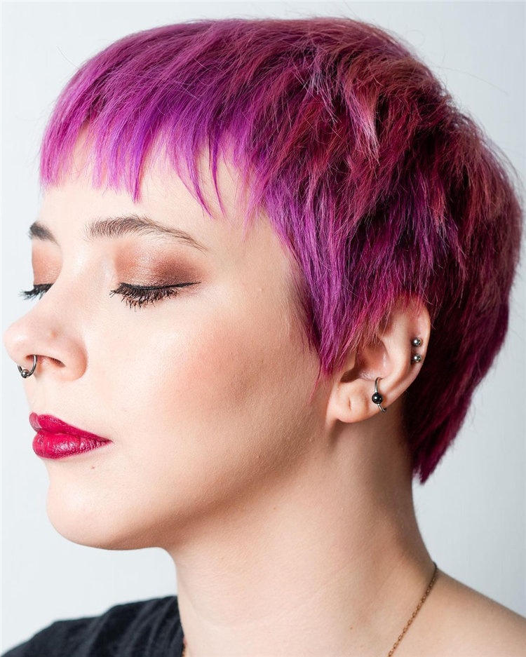 Purple Pixie Cuts Ideas That You Must Try 29