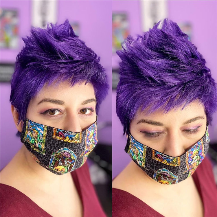 Purple Pixie Cuts Ideas That You Must Try 30