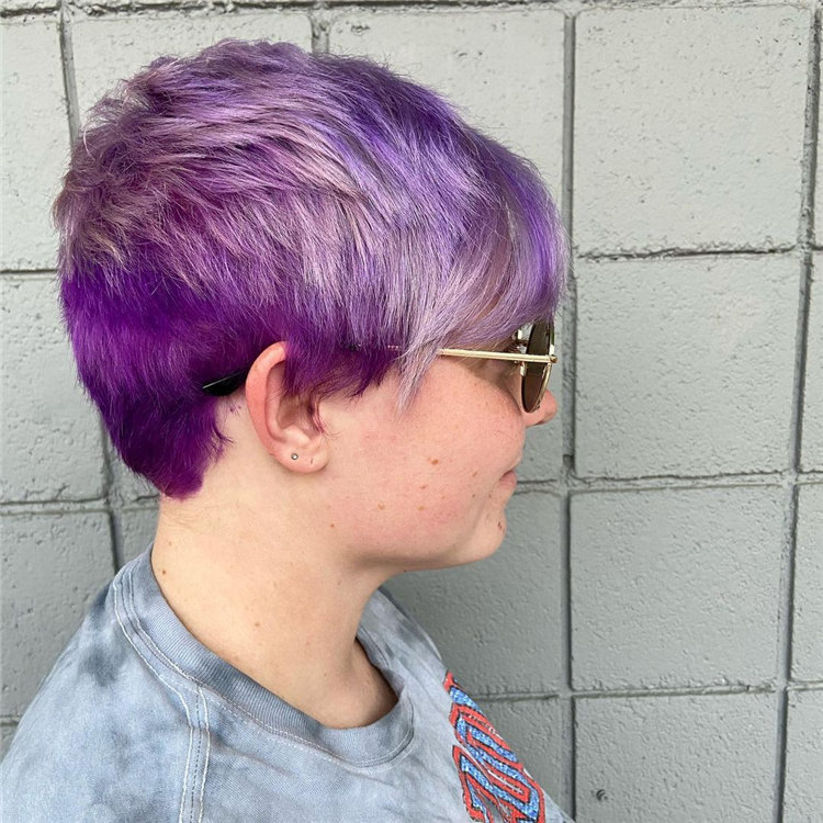 Purple Pixie Cuts Ideas That You Must Try 38