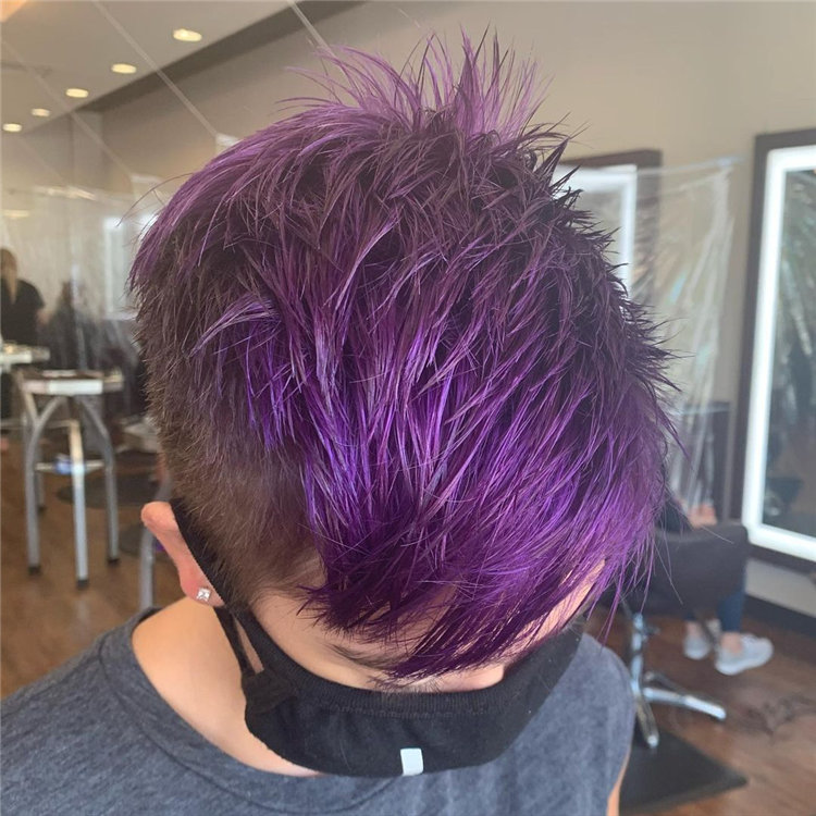 Purple Pixie Cuts Ideas That You Must Try 41