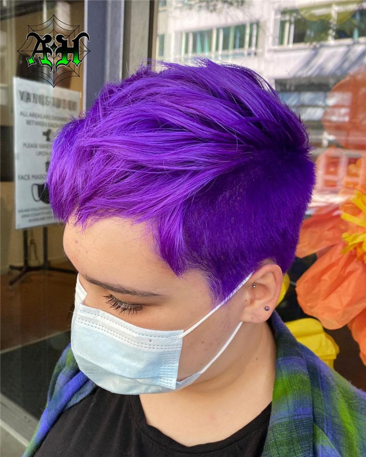 Purple Pixie Cuts Ideas That You Must Try 42
