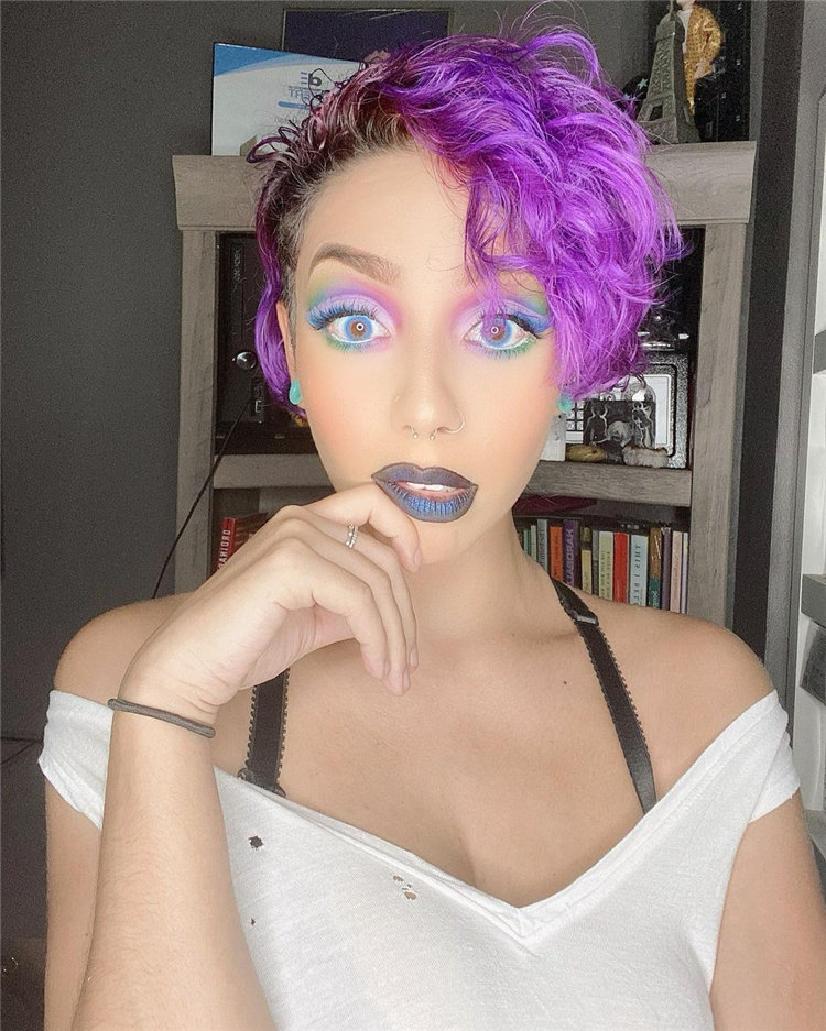Purple Pixie Cuts Ideas That You Must Try 46