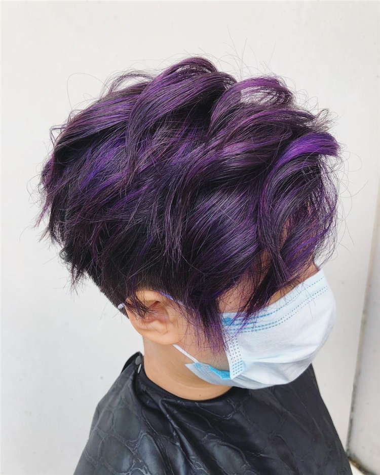 Purple Pixie Cuts Ideas That You Must Try 47