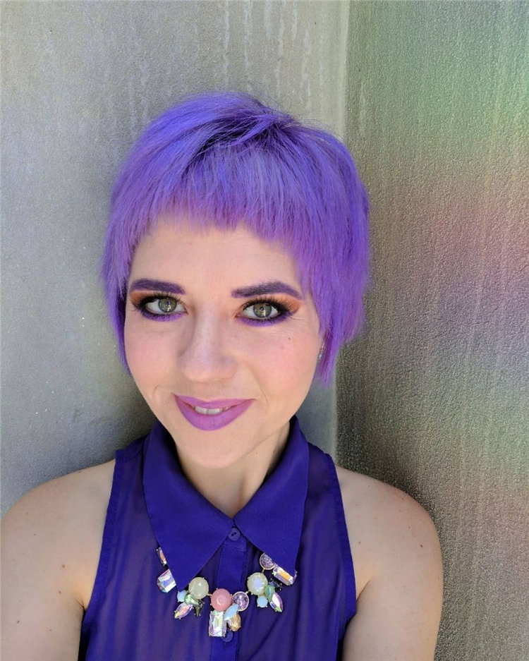 Purple Pixie Cuts Ideas That You Must Try 48