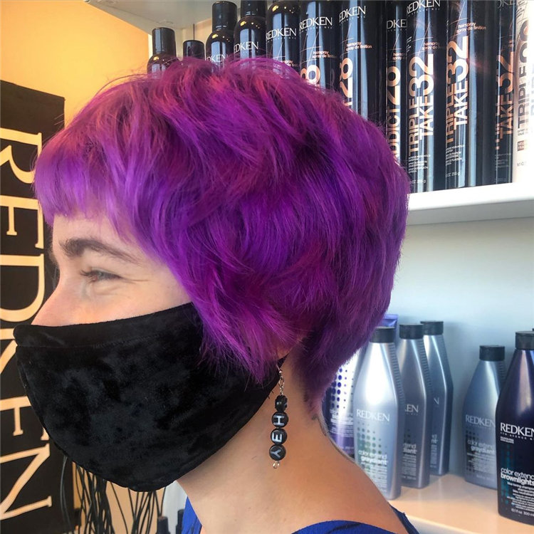 Purple Pixie Cuts Ideas That You Must Try 54