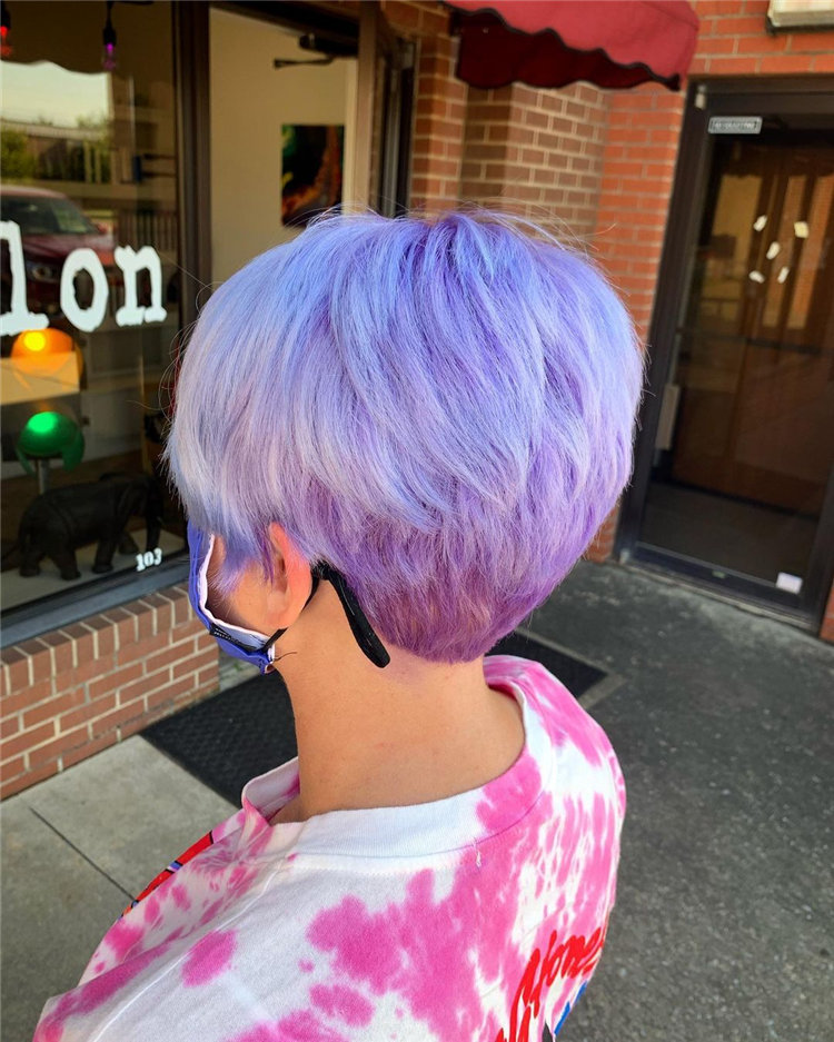 Purple Pixie Cuts Ideas That You Must Try 55