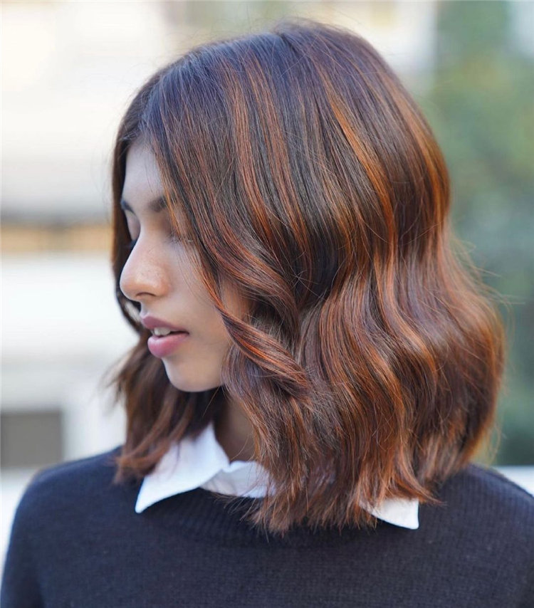 Rust Brown Hairstyle
