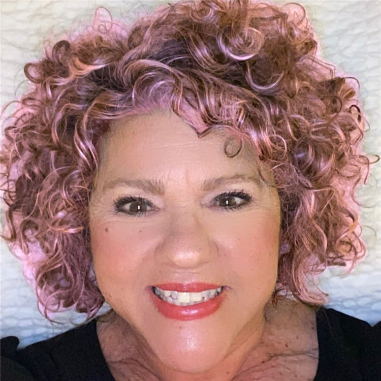 Short Pink Curly Hair
