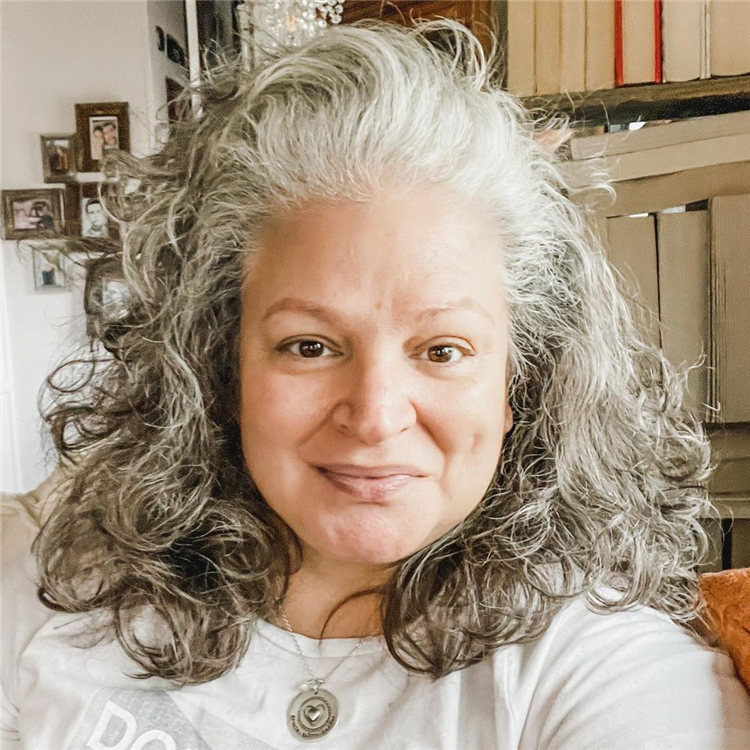 Silver Curly Hair 1