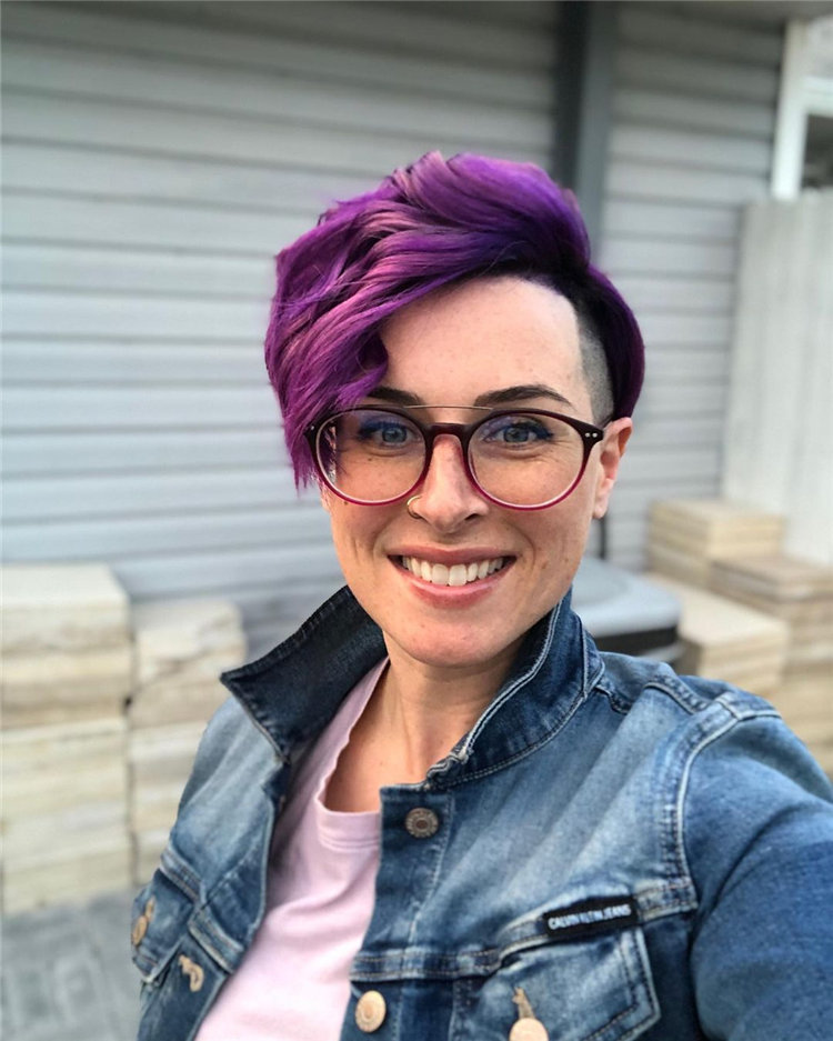 Purple Pixie Shaved Sides