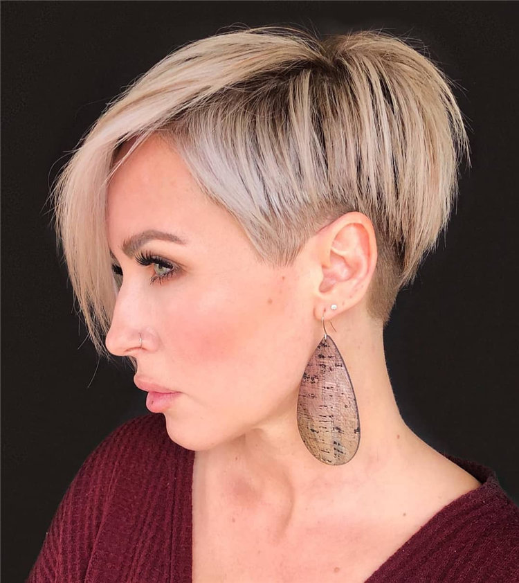 Short Asymmetrical Bob Haircuts to Copy Asap 23