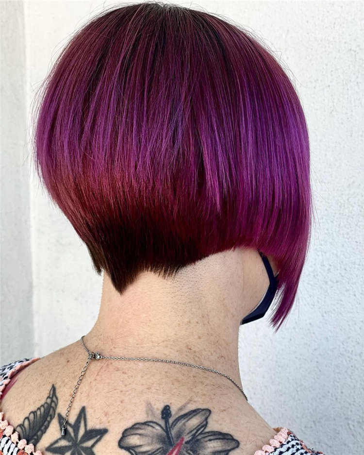 Short Asymmetrical Bob Haircuts to Copy Asap 29