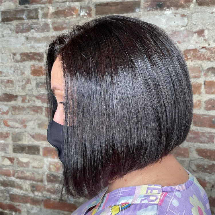 Short Asymmetrical Bob Haircuts to Copy Asap 34