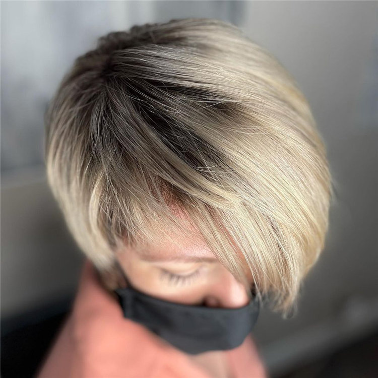 Short Asymmetrical Bob Haircuts to Copy Asap 35