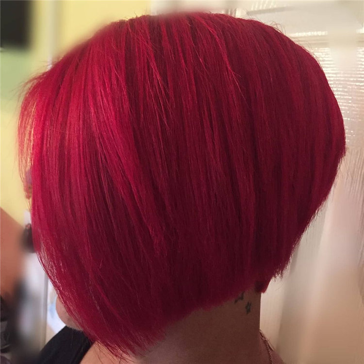 Short Asymmetrical Bob Haircuts to Copy Asap 40