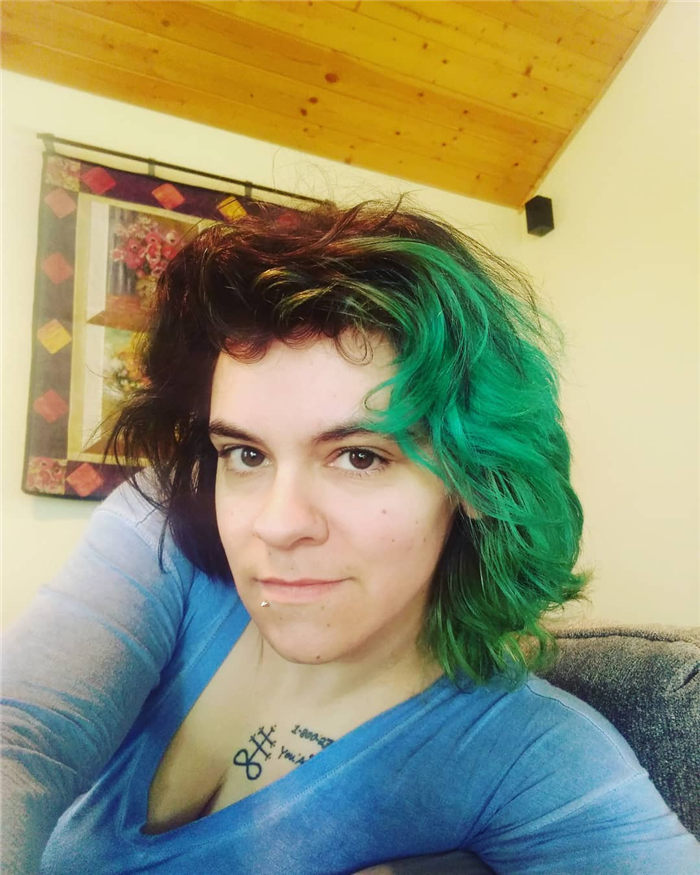Black and Green Hair