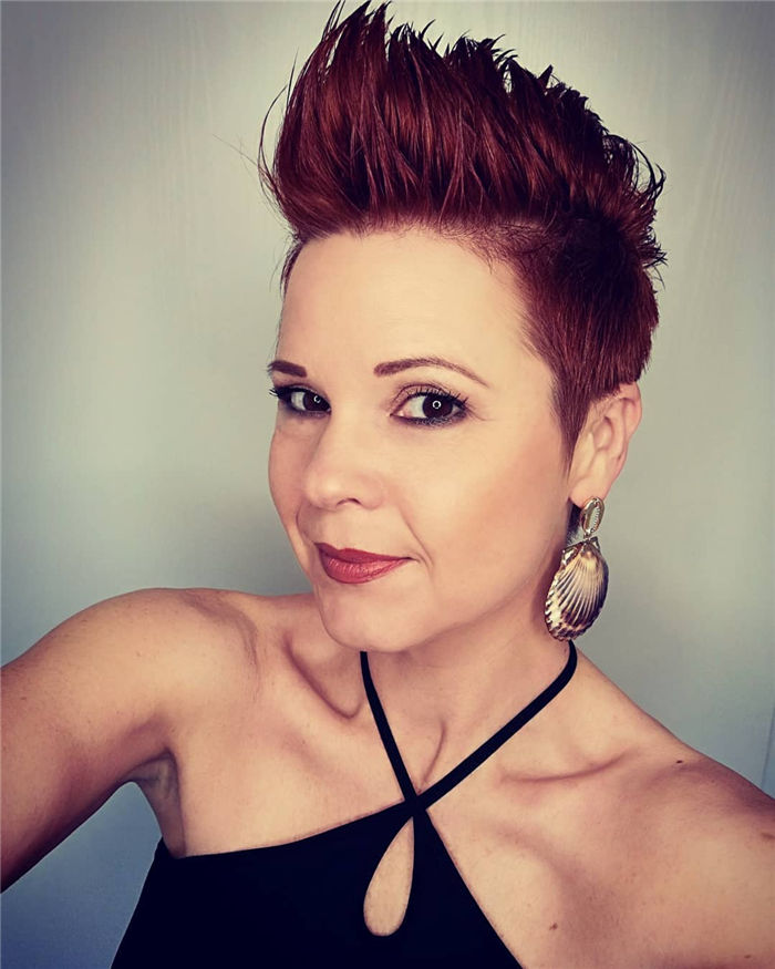 Red Pixie Copper Hair
