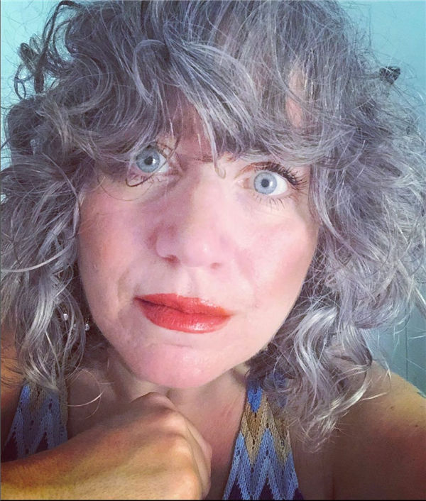 Curly Silver Highlights
