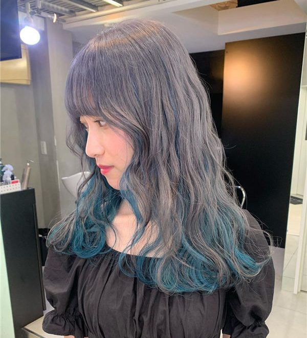 Grey and Blue Ombre