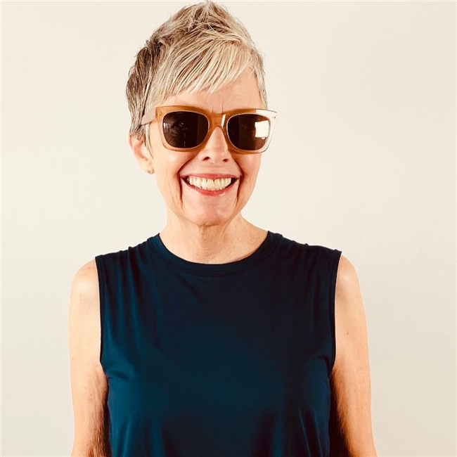 Short Pixie Cut with Sunglasses Casting